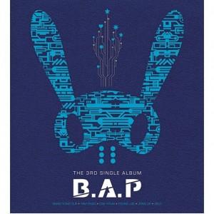 "Album art for B.A.P's album ""Stop it"""
