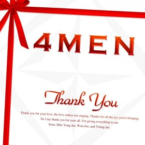 "The album art for 4Men's album ""Thank You"""