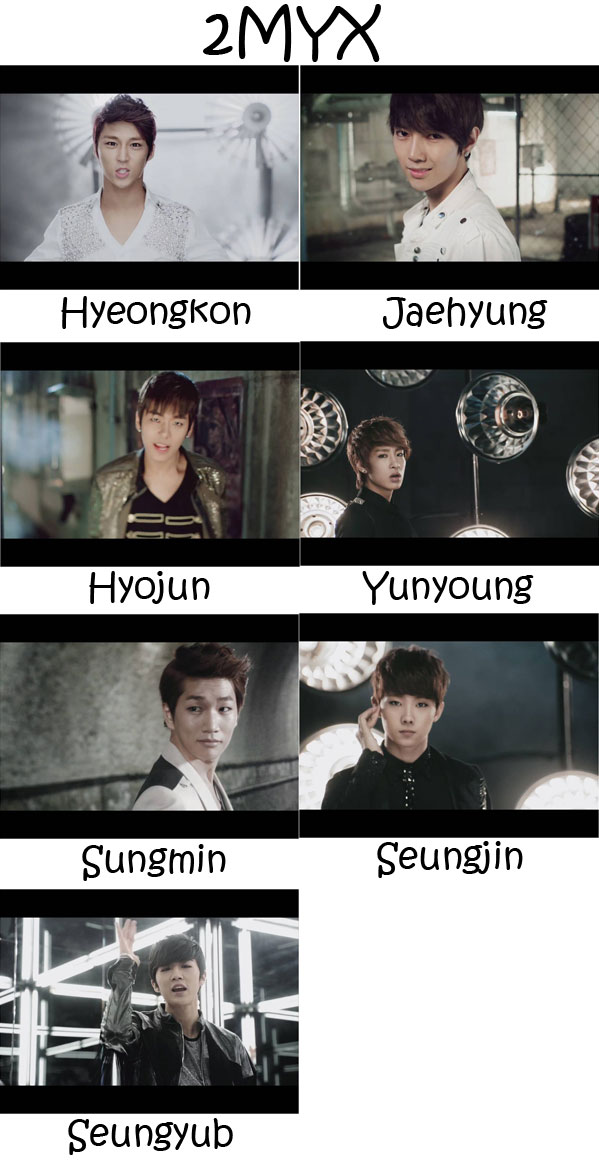 "The members of A-JAX in the ""2MYX"" MV"