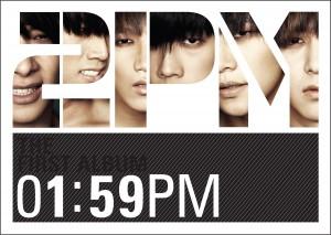 "Album art for 2PM's album ""1:59 Time For Change"""