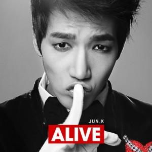 "Album art for Jun.K's solo album ""Alive"""