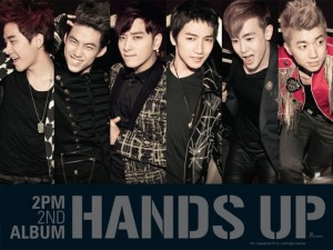 """Album art for 2PM's album """"Hands Up"""""""