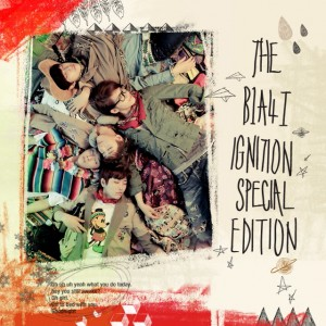 "Album artwork for B1A4's repackaged album ""Ignition Special Edition"""