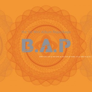 "Album artwork for B.A.P's repackaged album ""Crash"""