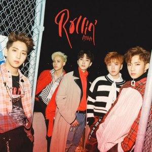 "Album art for B1A4's album ""Rollin'"""