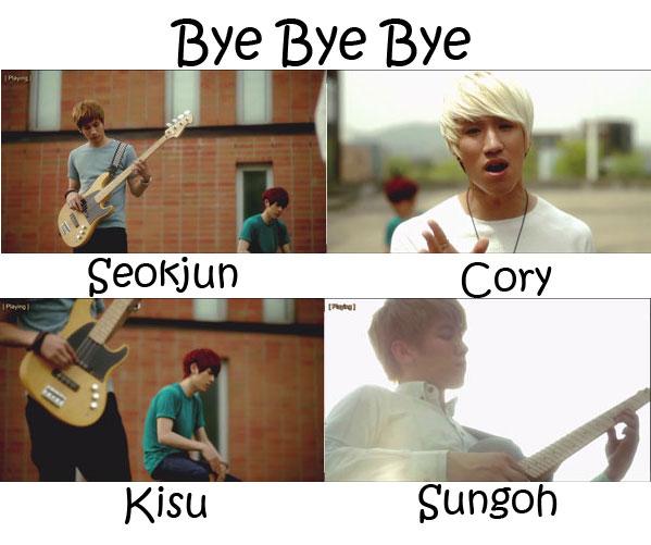 24K's sub-unit 4K in the Bye Bye Bye MV