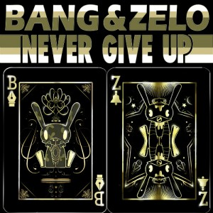 "Album art for B.A.P's sub-unit Bang and Zelo's album ""Never Give Up"""