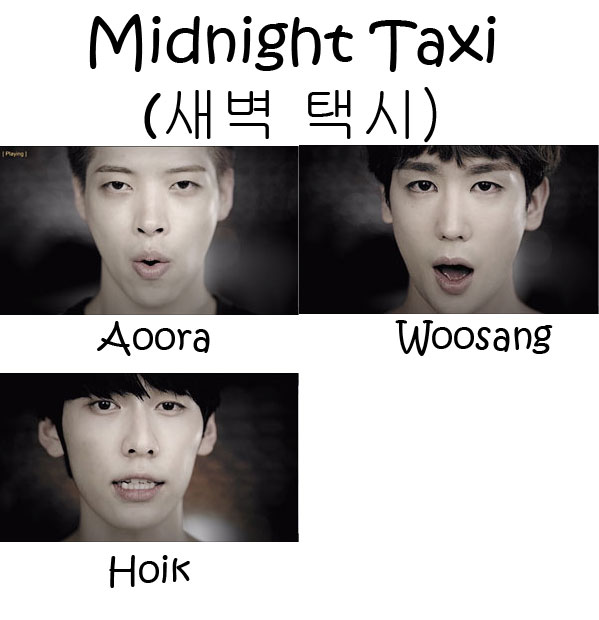 "3 of the members of AA in the the ""Midnight Taxi"" MV"