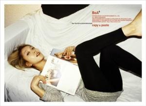 "The album art for BoA's album ""Copy & Paste"""