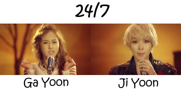 "The member's of 4Minute's sub-unit 2Yoon in the ""24/7"" MV"