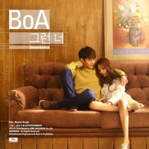 "The album art for BoA's album ""Disturbance"""