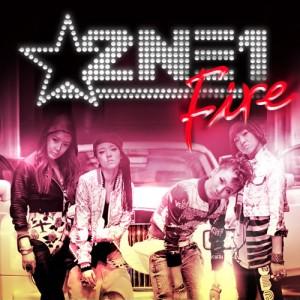 """Album art for 2NE1's digital single """"Fire"""""""
