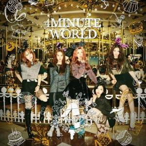 "Album art for 4Minute's album ""4Minute World"""
