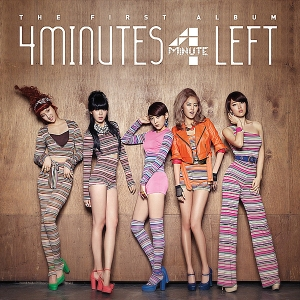 "The album art for 4Minute's album ""4 Minutes Left"""