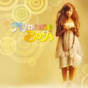"The album art for BoA's album ""My Name"""