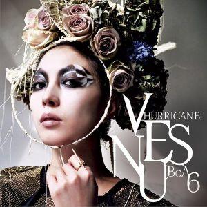 """The album art for BoA's album """"Hurricane Venus"""""""