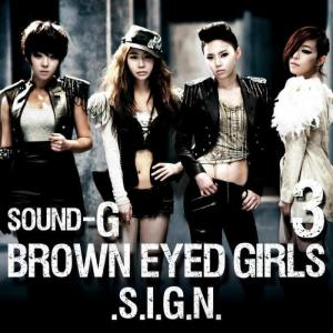 "The album art for Brown Eyed Girls's albm ""Sound-G Repackage"""