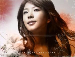 """The album art for BoA's album """"Everlasting"""""""