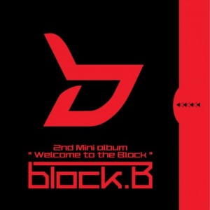 "The album art for Block B's album ""Welcome To The Block"""