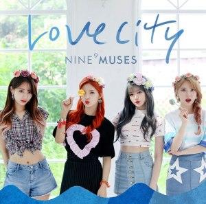 """Album art for 9Muses's album """"Love City"""""""