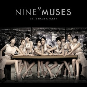 "Album art for 9Muses album ""Let's Have a Party"""
