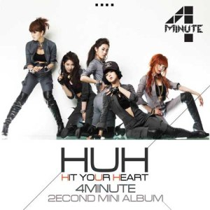 "Album art for 4Minute's album ""Hit Your Hear"""