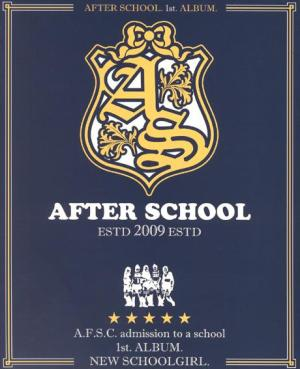 "Album art for After School's ablum ""New Schoolgirl"""