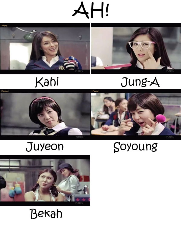 "The members of After School in the ""AH!"" MV"
