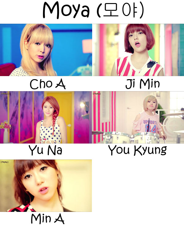 "The members of AOA Black in the ""Moya"" MV"