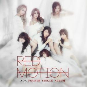 """Album art for AOA's album """"Red Motion"""""""