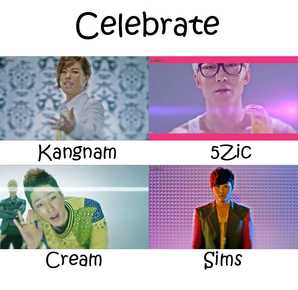 "The members of M.I.B in the ""Celebrate"" MV"