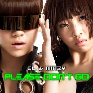 """Album art for CL and Minzy's album """"Please Don't Go"""""""
