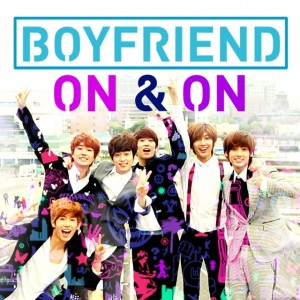 "Album art for Boyfriend's album ""ON & ON"""