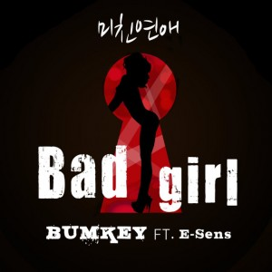 "Album art for Bumkey's album ""Bad Girl"""