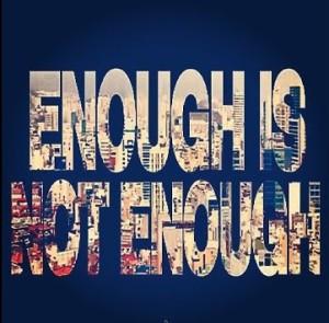 "album art for Cream / Blue Cream's album ""Enough Is Not Enough"""