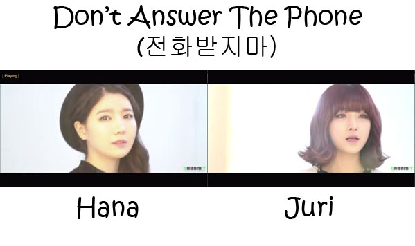 "The members of Jevice in the ""Don't Answer The Phone"" MV"