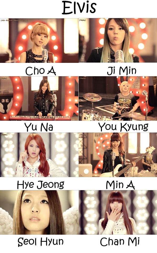 "The members of AOA in the ""Elvis"" MV"