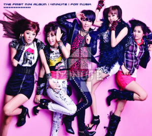 "Album art for 4Minute's album ""For Muzik"""