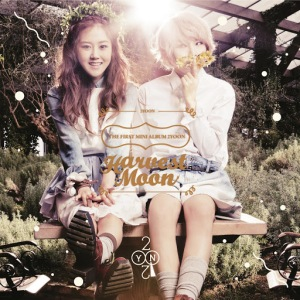 "The album art for 4Minute's sub-unit 2Yoon's album ""Harvest Moon"""