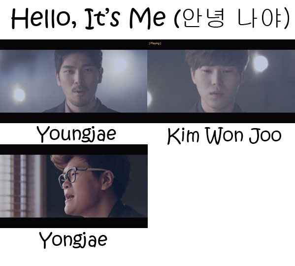 "The members of 4MEN in the ""Hello, It's Me"" MV"
