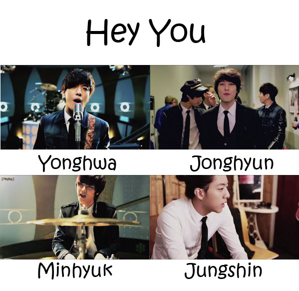 "The members of CNBLUE in the ""Hey You"" MV"