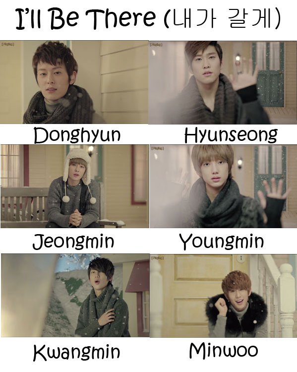 "The members of Boyfriend in the ""I'll Be There"" MV"