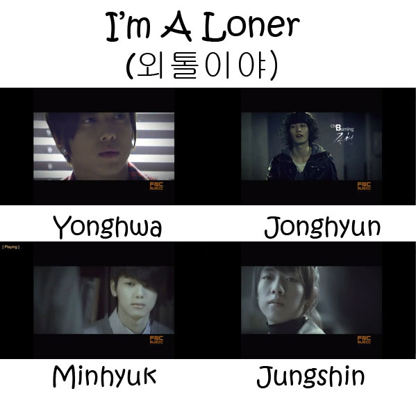 "The members of CNBLUE in the ""I'm A Loner"" MV"