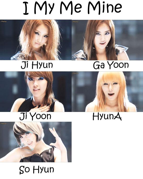 "The members of 4Minute in the ""I My Me Mine' MV"