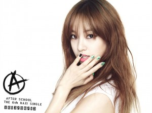 "After School's Juyeon ""First Love"" promotional picture."