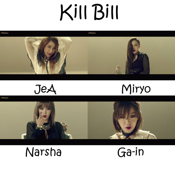 "The members of Brown Eyed Girls in the ""Kill Bill"" MV"