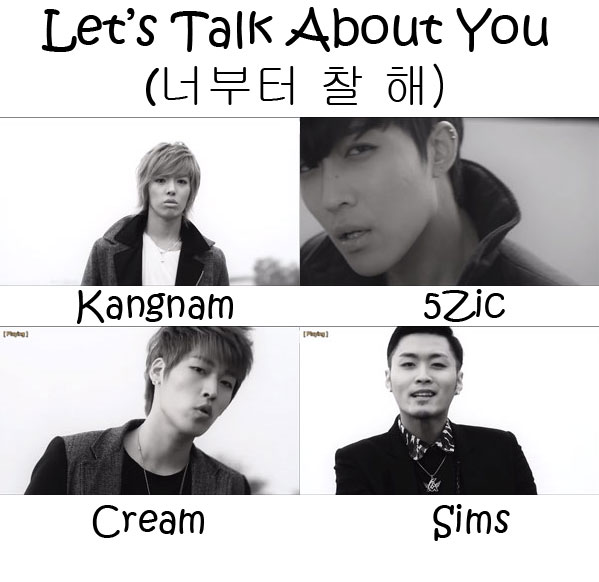 "The members of M.I.B in the ""Let's Talk About You"" MV"
