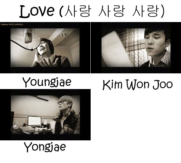 "The memebers of 4MEN in the ""Love"" MV"