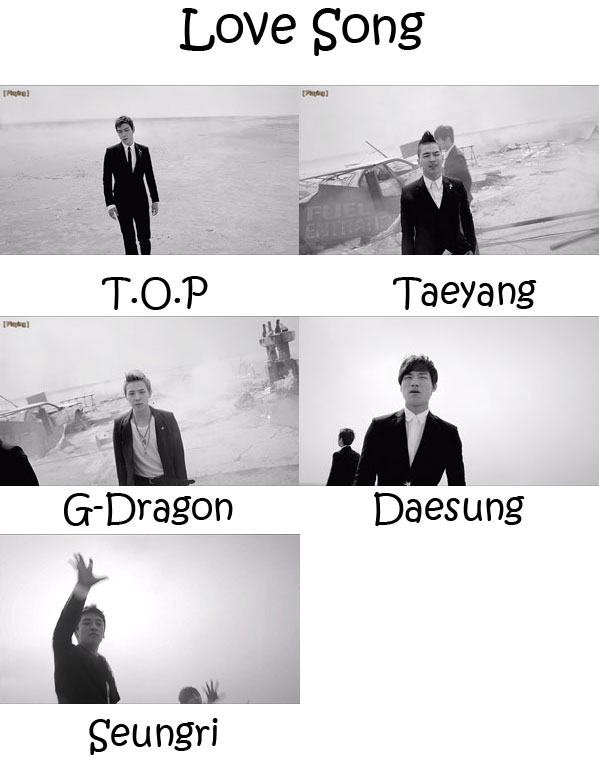 """The members of Big Bang in the """"Love Song"""""""