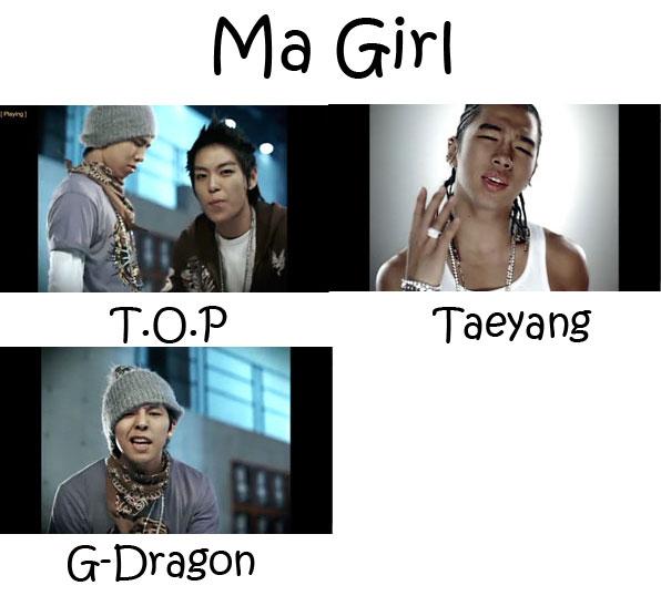 "The members of Big Bang in the ""Ma Girl"" MV"